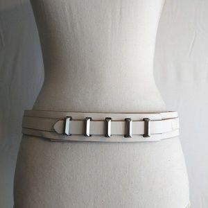 BCBG Maxazria Womens White Fashion Belt Size S